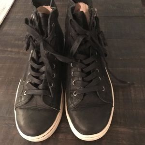 Leather UGG High Top Sneakers Excellent Condition